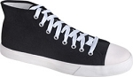 Hi-Bobs Shoes for Men, Black Hi-Top Canvas Shoes