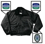 Black Bomber Jacket With Silver Badge