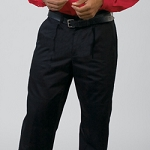 MENS PLEATED TROUSER W/HEM