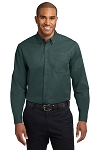 Men's Long Sleeve Twill-button down shirt