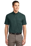 Men's Short Sleeve Twill-button down shirt