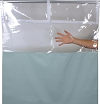 Shower Curtain w/Clear Top