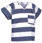 Shirt, Blue & White Stripe,