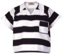 Shirt, Black & White Stripe