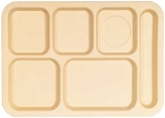 Tray, 6 Compt Polypro Tan