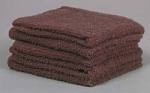 Brown Washcloths - Budget Grade