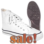 Hi-Bobs Shoes for Men,White Hi-Top Canvas Shoes