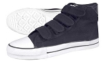 Shoe Hi Top Velcro Black Sz 10