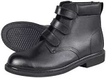 Work Boot, Black Leather Size