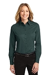 Ladies Long Sleeve Twill-button down shirt