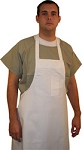 White Polyester/Cotton Cloth Aprons