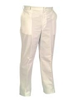Twill Work Pants, White